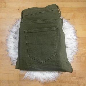 GAP   Olive Green   Easy Leggings Jeans   6 Tall